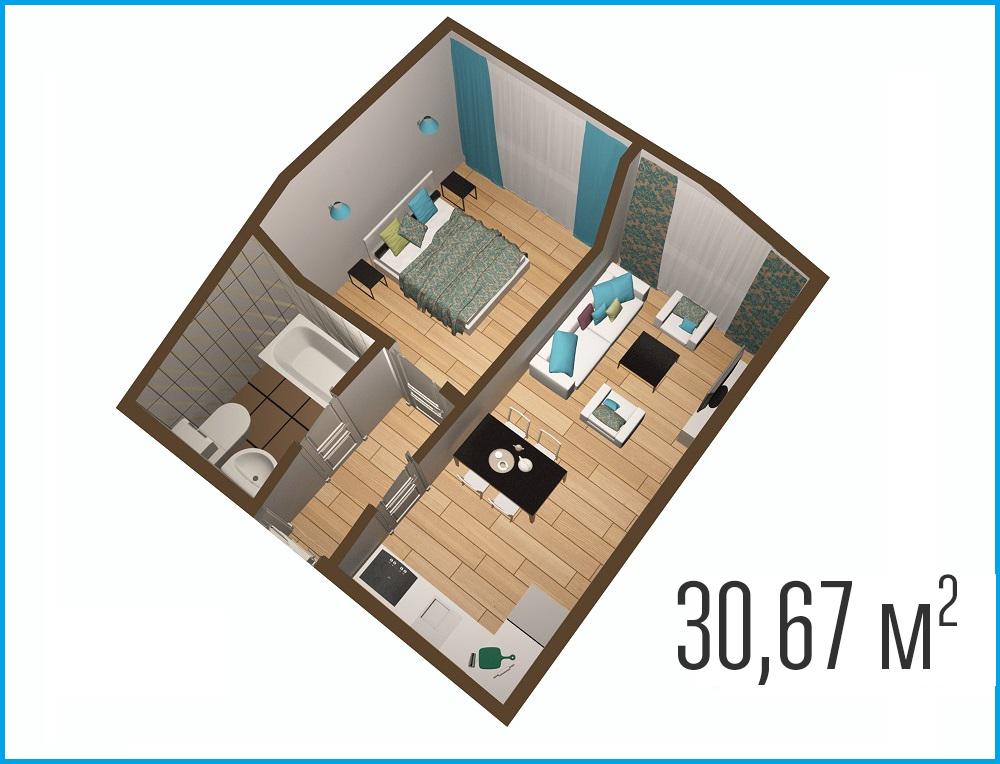 Квартира 32 кв м фото