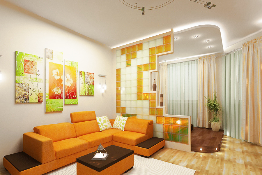 Дизайн комнаты студии в квартире
