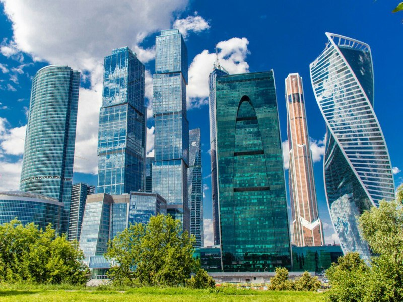 Обзор небоскрёбов Москва-Сити